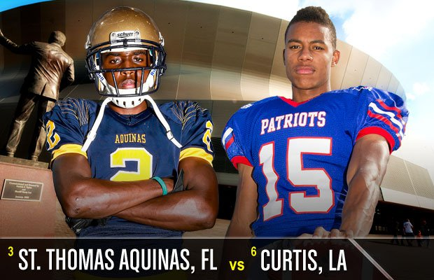 St. Thomas Aquinas is definitely accustomed to hitting the road for big games. And Curtis is accustomed to playing big games as well.
