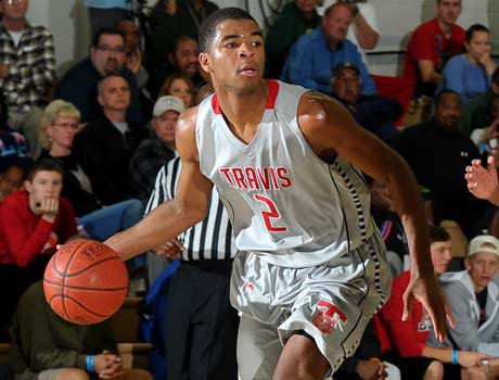 Aaron Harrison combined for 65 points in a pair of Fort Bend Travis victories Thursday at the MaxPreps Holiday Classic.