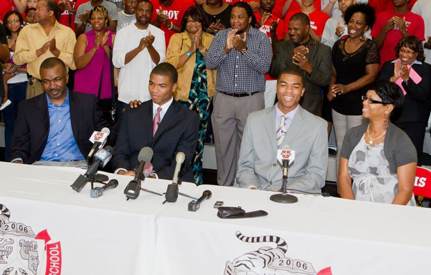 A week after identical twin stars Aaron (left) and Andrew Harrison committed to Kentucky, the Wildcats received a third Top 10 pledge in the Class of 2013 from Michigan guard/wing James Young.