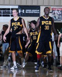 Zach Peters and Julius Randle enjoy Prestonwood's unlikely City of Palms title.