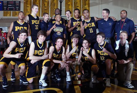 Prestonwood Christian became the first Texas school to win the prestigious City of Palms Classic, dominating Grace Prep 62-42 Wednesday night.