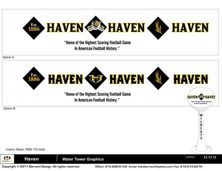 The water tower design in Haven, Kan. plans to honor the highest-scoring football game in American history.