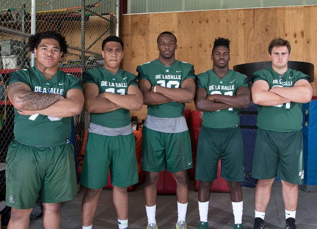 The senior quintet of Beau Tagaloa, Henry To'oto'o, Isaiah Foskey, Jhasi Wilson and Gunnar Rask hope to lead De La Salle to an eighth state title since 2006.