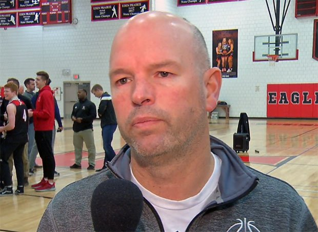 Eden Prairie head coach David Flom.