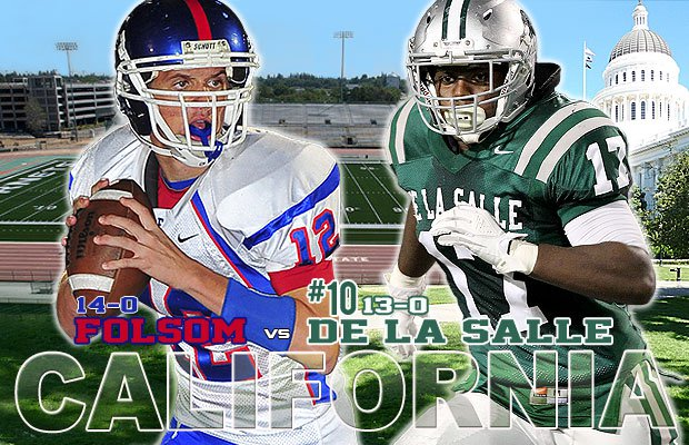 California's state capital will host this week's top game, as De La Salle battles Folsom for a berth in the state title game.