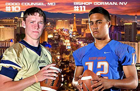 The No. 10 and No. 11 teams square off in the showdown between Our Lady of Good Counsel and Bishop Gorman.