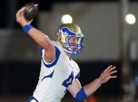Johnny Stanton accounted for 307 yards and all four of Santa Margarita's touchdown in a hard-fought 27-14 win over Brophy Prep (Phoenix) Saturday at Phoenix College.