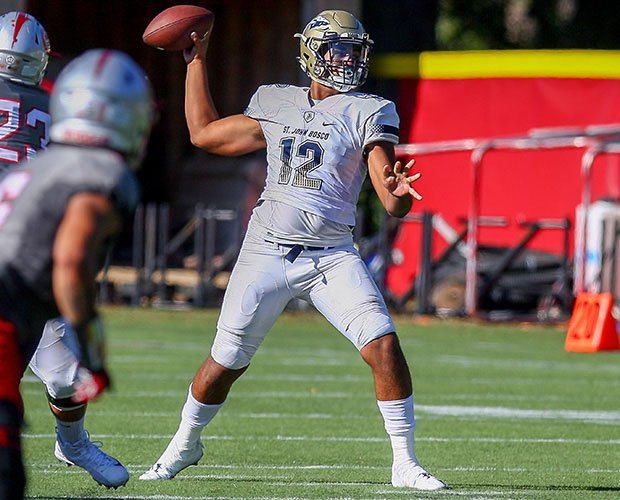 Sophomore quarterback DJ Uiagalelei brought St. John Bosco back from a 17-7 fourth-quarter deficit to win 21-17.