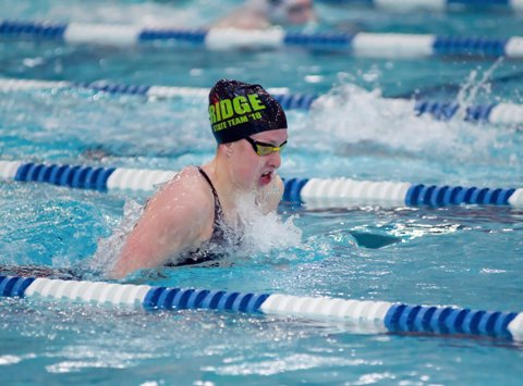 Fossil Ridge standout Zoe Bartel and her teammates set the national record in the 200 medley relay at the Class 5A state meet in February. Their time of 1 minute, 38.13 seconds broke the mark of 1.38.77.