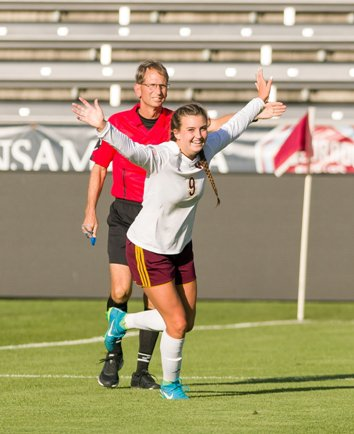 Windsor's Chaynee Kinsgbury scored three goals in the Class 4A state championship game, to finish with 35 on the season and cap a great school year for the Wizards.