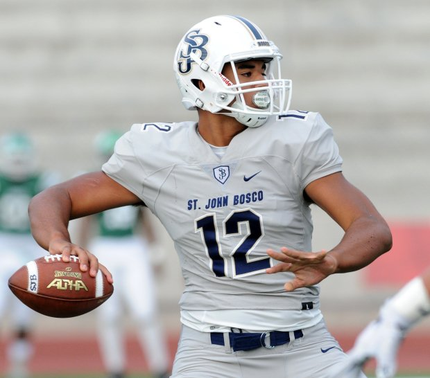 D.J. Uiagalelei is preparing to lead No. 5 St. John Bosco into a battle against No. 1 Mater Dei on Friday night.