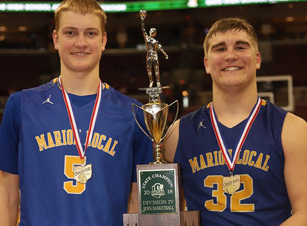 Marion Local became the fourth Ohio school in history to capture football and basketball titles in the same school year.