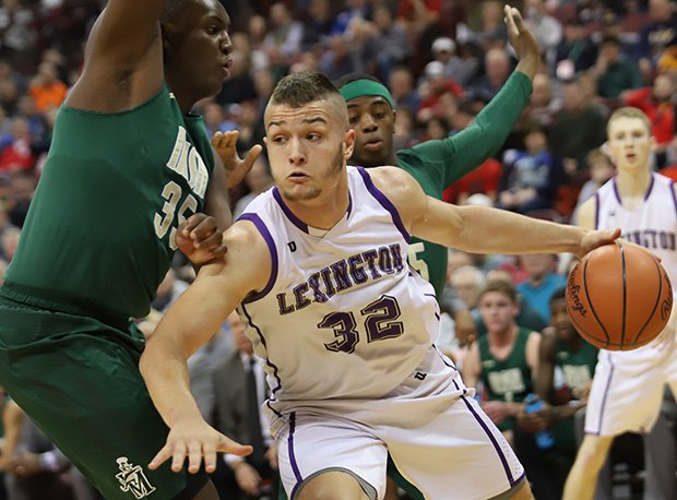 Lexington, led by junior Cade Stover (17 points, 10 rebounds), fell to Akron St. Vincent-St. Mary in the D-II semifinals.