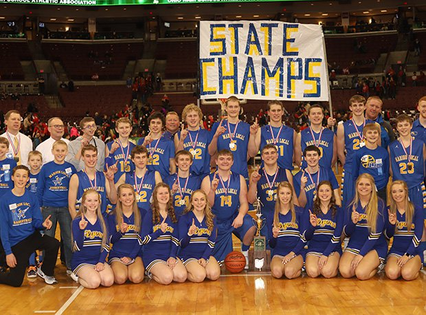 Marion Local captured the program's third state title and the MAC's 127th with a 52-51 2OT win in D-IV.
