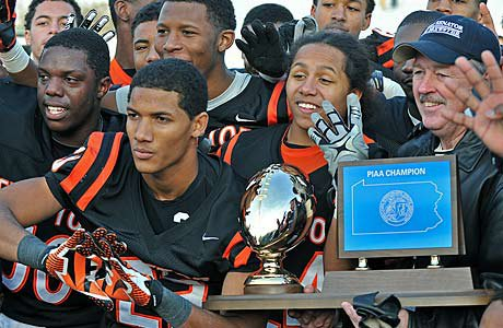 Clairton celebrated its 63rd consecutive win and fourth-straight Pennsylvania state title on Friday afternoon.