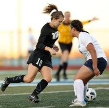 Green Mountain's Karlea Fehr (10) scored three goals in the quarterfinals.