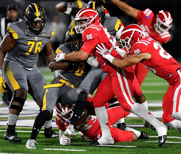 The Mater Dei defense held St. Frances Academy 38 points below its season average.