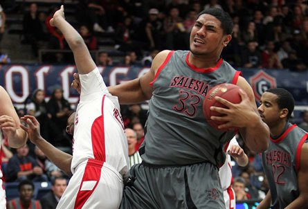 At 6-foot-7 and nearing 300 pounds, Freddie Tagaloa is a beast in the paint for perennial NorCal power Salesian.