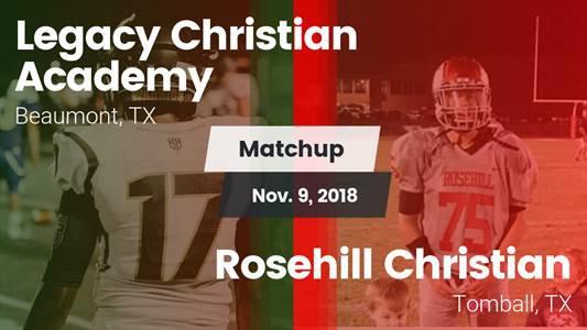 Football Game Recap: Rosehill Christian vs. Legacy Christian Academy