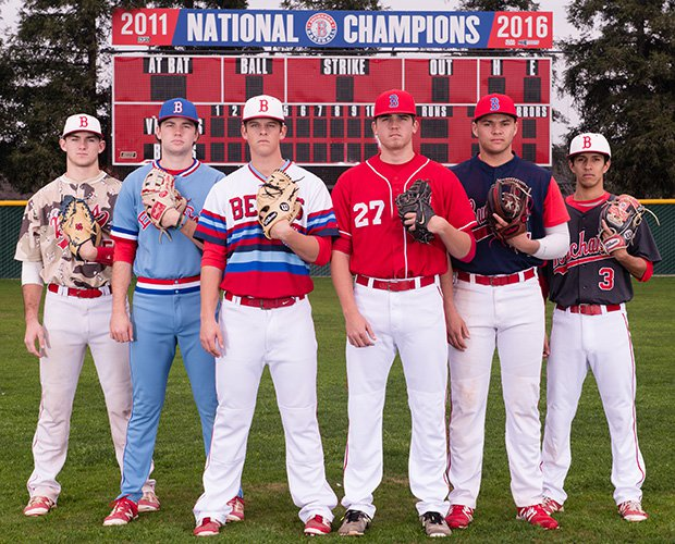 The Bears have a wealth of experience and talent led by players (left to right) Zach Presno, Quentin Selma, Carson Olson, Hunter Reinke, Jamal O'Guinn and Chase Rocamora.