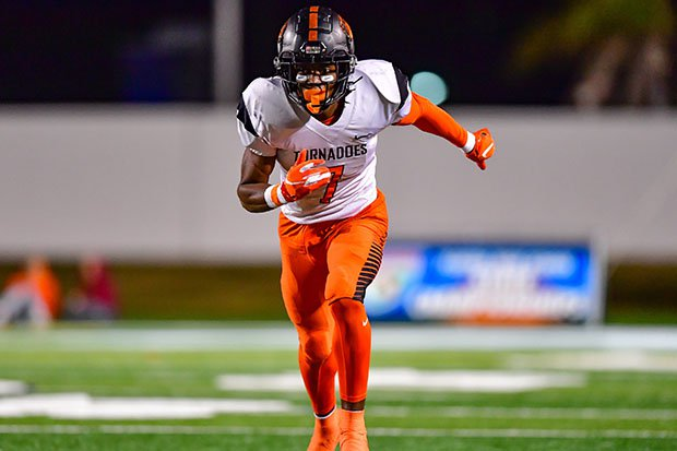 Jacorey Brooks in action for Booker T. Washington during Florida's Class 4A state championship game in December.