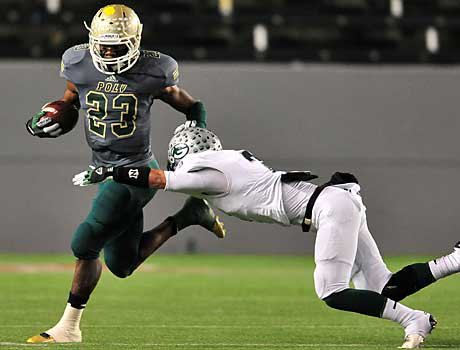 Gerard Wicks was solid in the Long Beach Poly running game.