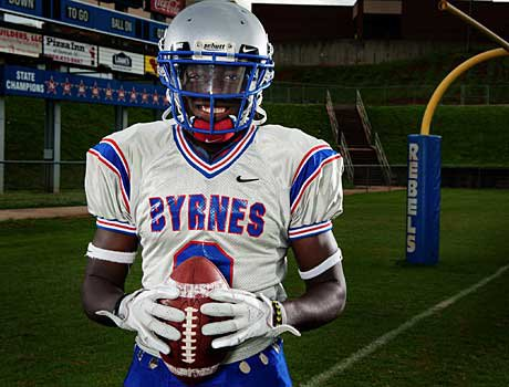 Akia Booker led Byrnes in a big victory over Oscar Smith.