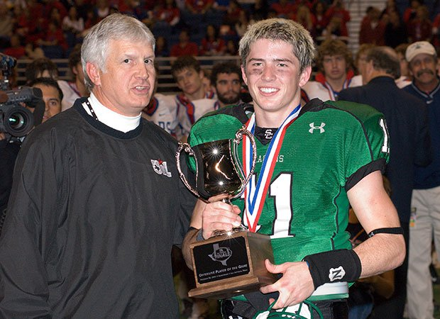 Riley Dodge was named the Offensive Player of the Game following his team's victory over Austin Westlake in the 2006 UIL 5A Division 1 state championship game at the Alamodome.