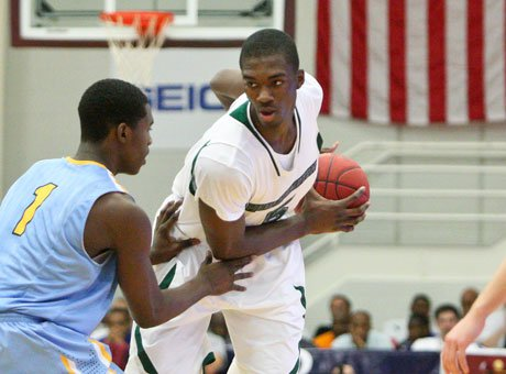 Future Indiana Hoosier Noah Vonleh was slowed by foul trouble Sunday against Huntington Prep.