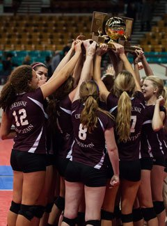 Cheyenne Mountain celebrates itsColorado 4A title.