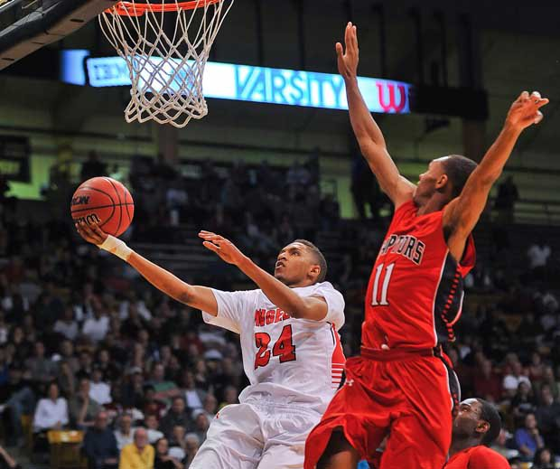 Dominique Collier (left), one of the state's top point guards, should lead Denver East toward a possible state championship.