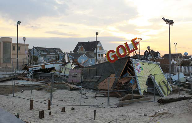 During the finest football season in the nearly 100-year history of Point Pleasant Beach High School, Hurricane Sandy ripped through the middle of the small Jersey Shore borough. The Garnet Gulls persevered not only on the field, but in the community, where they served as a rallying point and diversion during one of the region's most challenging times.