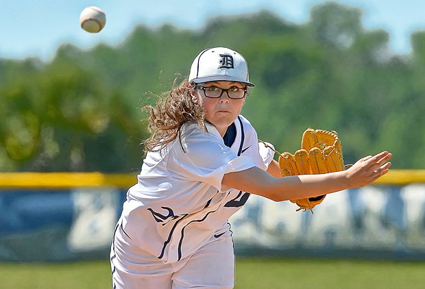 Now a junior in high school, pitcher Chelsea Baker has had continued success all the way from Little League with her signature pitch.