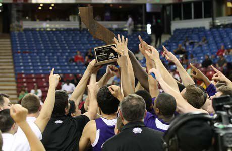 St. Augustine celebrates its first state title, but it wasn't easy. The Saints had to go overtime to beat Sacred Heart Cathedral.