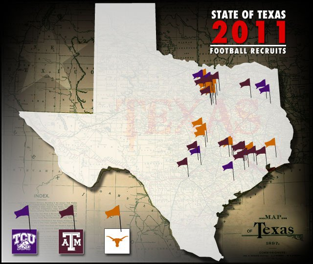 Always fertile recruiting ground, the Dallas and Houston areas have been especially kind to Texas, Texas A&M, and TCU, helping all three to Top 10 recruiting classes.