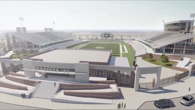Rendering of Children's Health Stadium in Prosper.