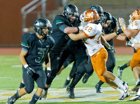 Cedar Park's offensive line eventually wore down Lancaster in the second half.
