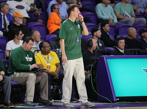 Bucky McMillan looks on during Mountain Brook's upset win over IMG Academy during the 2018 City of Palms Classic.