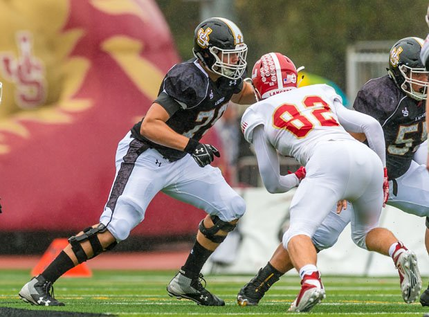 Michigan-bound Joseph Wiersma (79) anchors the line for JSerra Catholic.