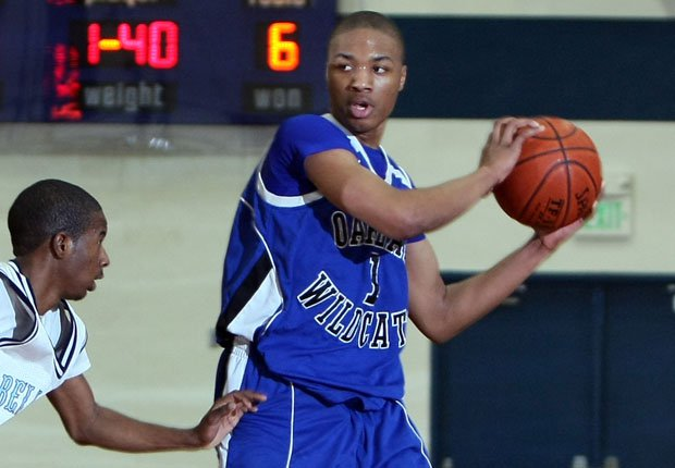 Damian Lillard during his senior season at Oakland High School, when he averaged 22.9 points per game when the Wildcats went 23-9, losing in the NorCal semifinals to De La Salle. Oakland lost that game 49-45 and Lillard fouled out late.