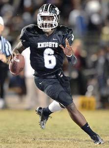 Robinson quarterback Zain Gilmore.