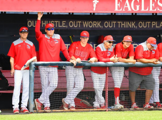 Former MLB standout Tim Salmon (second from left) is in his fifth season as coach at Scottsdale Christian Academy.