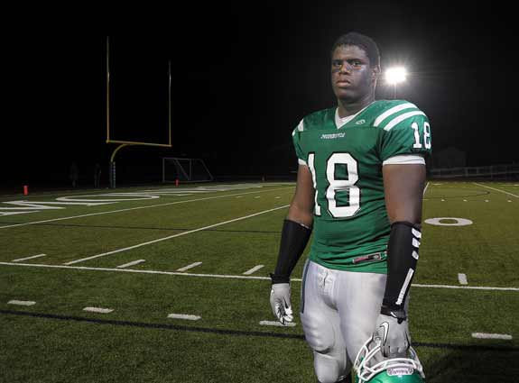 Ellis McCarthy is a large young man who can be described as a gentle giant off the field. On the field, he's a destructive force and is the No. 7 recruit in the Class of 2012.