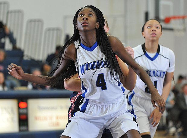 Woodmont's Azriela Folkes had eight blocked shots in a win over Hickory Grove.