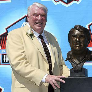 Coach John Madden after his Hall of Fame Induction.
