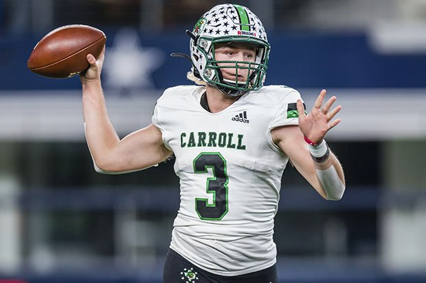 Quinn Ewers was named the MaxPreps National Sophomore of the Year after leading Southlake Carroll to a 13-1 record last fall.