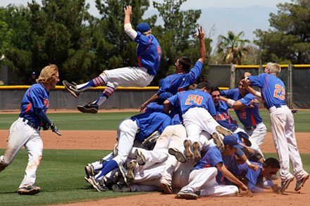 It was a dog pile supreme after the Gaels won their sixth straight Nevada 4A title.