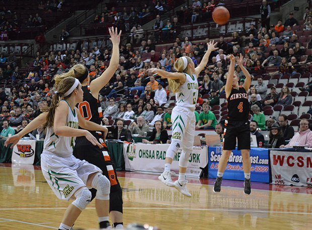 Minster freshman Ivy Wolf scored 15 points in the Wildcats D-IV state final win over Ottoville.