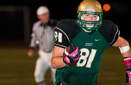 Jesuit's Henry Mondeaux is the top tight end in Oregon heading into the 2013 season.