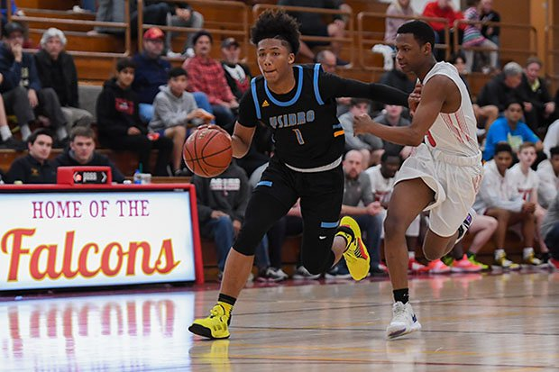 Mikey Williams in action against Arbor View last month.